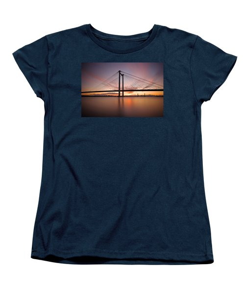 Women's T-Shirt (Standard Cut) featuring the photograph Cable Bridge by Ronda Kimbrow