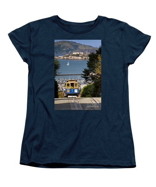 Cable Car In San Francisco Women's T-Shirt (Standard Cut) by Brian Jannsen