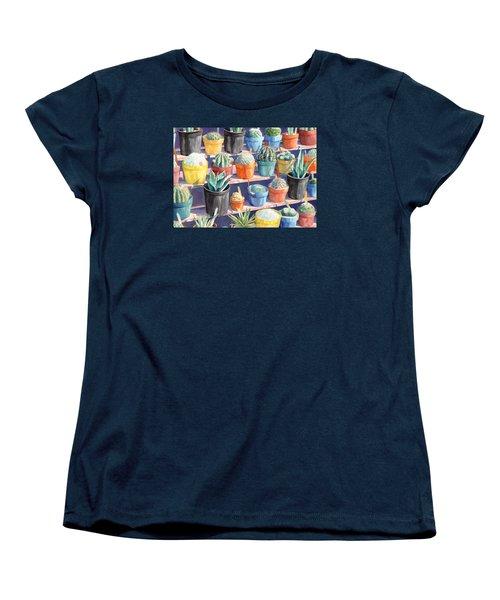 Cacti Chorusline Women's T-Shirt (Standard Cut) by Lynda Hoffman-Snodgrass