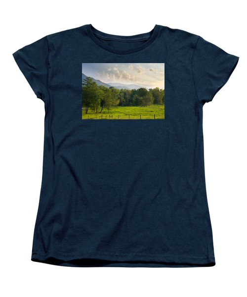 Cades Cove Women's T-Shirt (Standard Cut) by Melinda Fawver