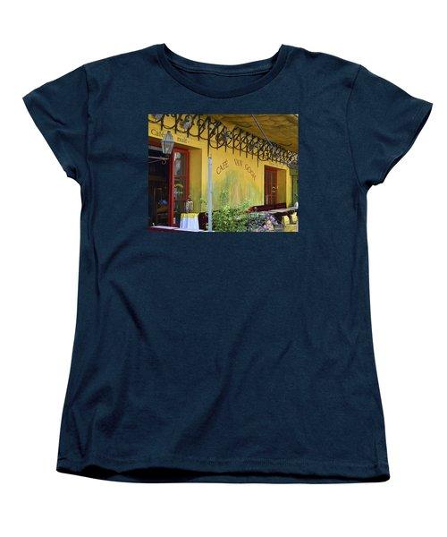 Women's T-Shirt (Standard Cut) featuring the photograph Cafe Van Gogh by Allen Sheffield
