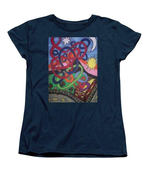 Women's T-Shirt (Standard Cut) featuring the drawing California by Jonathon Hansen