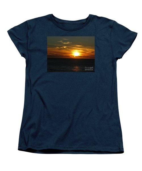 California Winter Sunset Women's T-Shirt (Standard Cut) by Mini Arora