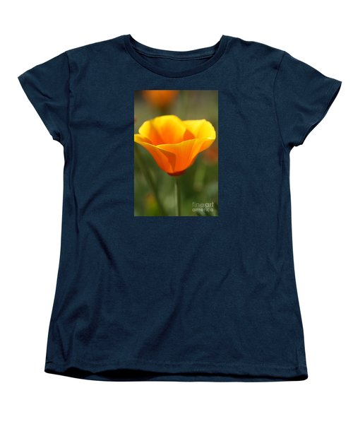 Women's T-Shirt (Standard Cut) featuring the photograph Californian Poppy by Joy Watson