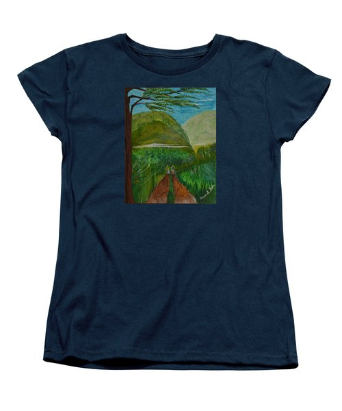 Women's T-Shirt (Standard Cut) featuring the painting Called To The Mission Field by Cassie Sears