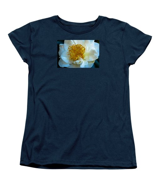 Women's T-Shirt (Standard Cut) featuring the photograph Camellia by Julie Andel