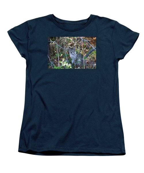 Women's T-Shirt (Standard Cut) featuring the photograph Camouflage Cat by Greg Graham