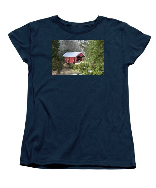 Campbell's Covered Bridge-1 Women's T-Shirt (Standard Cut) by Charles Hite