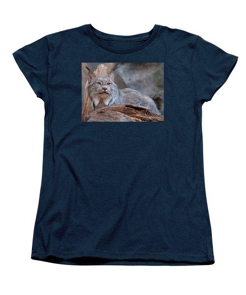 Women's T-Shirt (Standard Cut) featuring the photograph Canada Lynx by Bianca Nadeau
