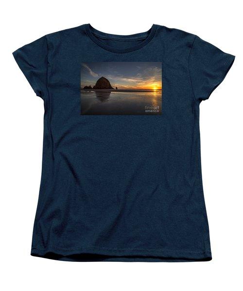 Cannon Beach Dusk Conclusion Women's T-Shirt (Standard Cut) by Mike Reid