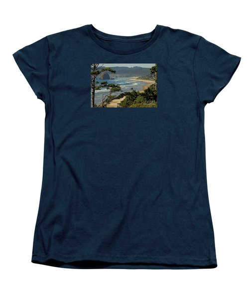 Women's T-Shirt (Standard Cut) featuring the photograph Cannon Beach Seascape by Nick  Boren