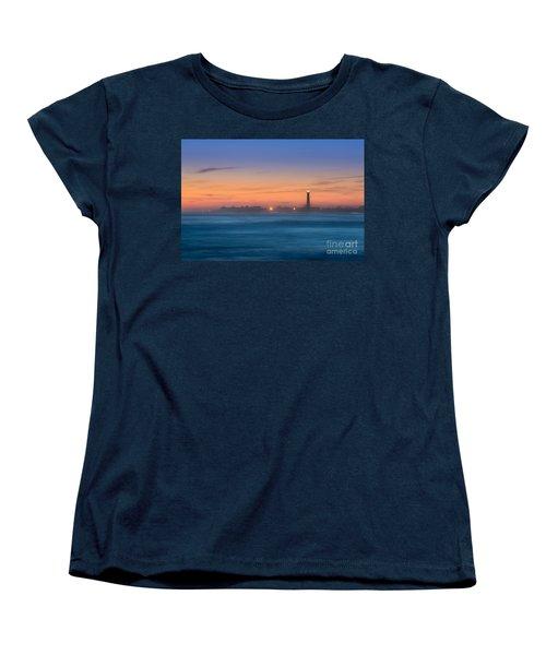 Cape May Lighthouse Sunset Women's T-Shirt (Standard Cut) by Michael Ver Sprill