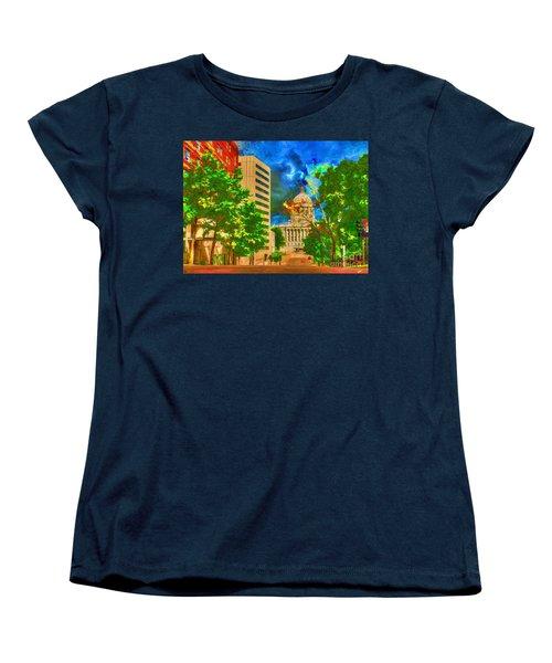 Capital - Jefferson City Missouri - Painting Women's T-Shirt (Standard Cut) by Liane Wright