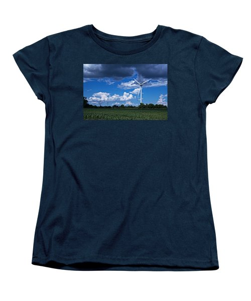 Capture The Wind Women's T-Shirt (Standard Cut) by Dave Files