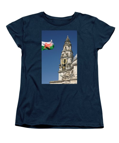 Cardiff City Hall Women's T-Shirt (Standard Cut) by Jeremy Voisey