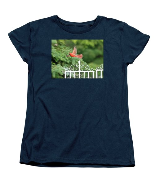 Women's T-Shirt (Standard Cut) featuring the photograph Cardinal Time To Soar by Thomas Woolworth