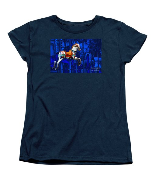 Carousel Horse Women's T-Shirt (Standard Cut) by Gunter Nezhoda