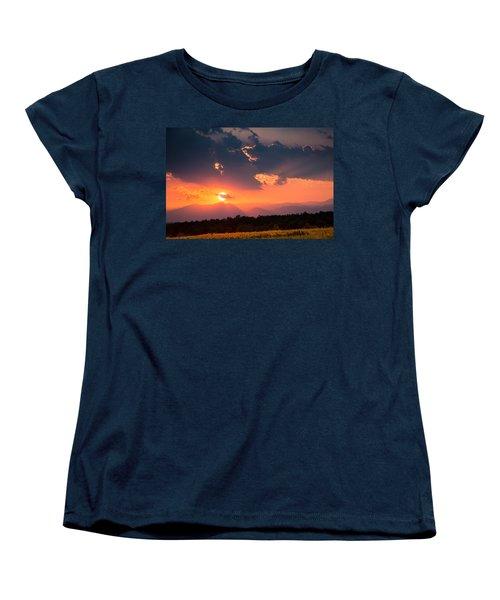 Carpathian Sunset Women's T-Shirt (Standard Cut) by Mihai Andritoiu