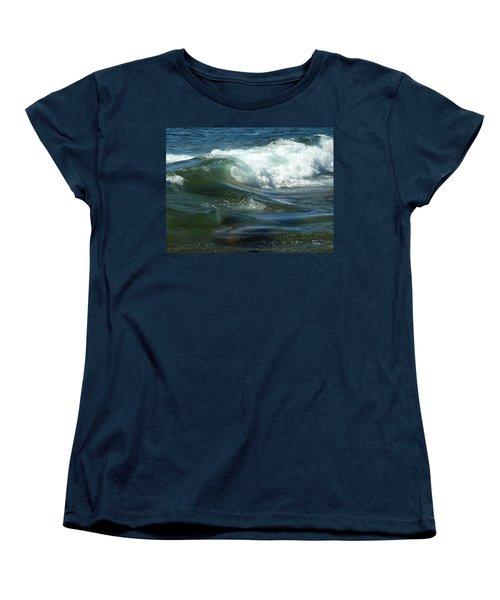 Cascade Wave Women's T-Shirt (Standard Cut) by James Peterson