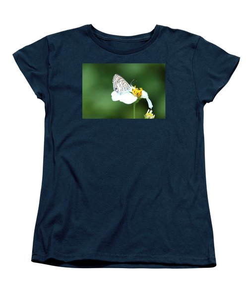 Women's T-Shirt (Standard Cut) featuring the photograph Cassius Blue On Wildflower by Greg Allore