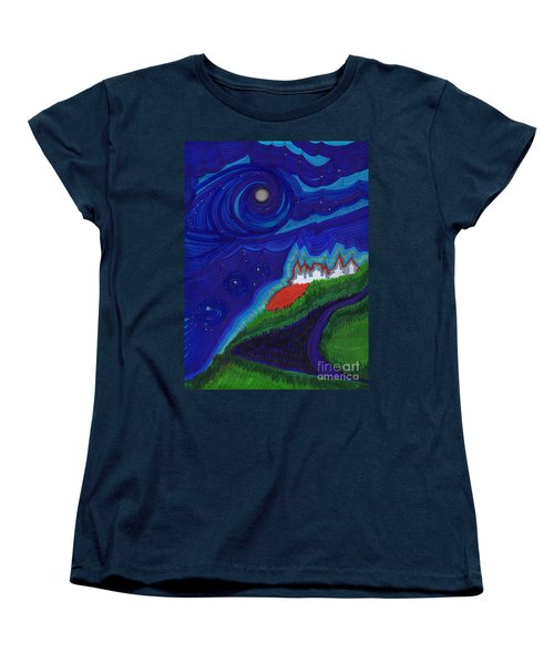 Castle On The Cliff By Jrr Women's T-Shirt (Standard Cut) by First Star Art
