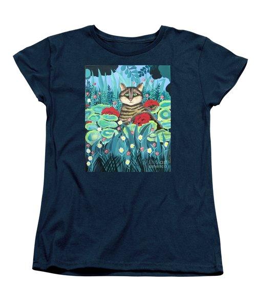 Cat Hiding In The Rainforest Women's T-Shirt (Standard Cut)