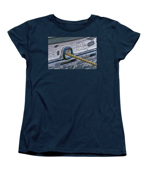 Women's T-Shirt (Standard Cut) featuring the photograph Cat Hole And Hawser by Marty Saccone
