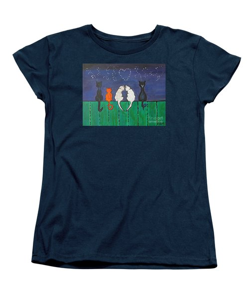Cat Tails Women's T-Shirt (Standard Cut) by Ella Kaye Dickey