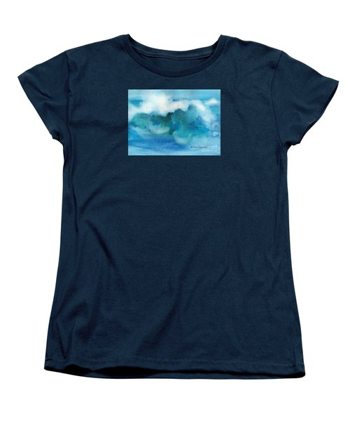 Women's T-Shirt (Standard Cut) featuring the painting Catch The Wave by Joan Hartenstein