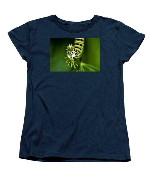 Caterpillar Of The Old World Swallowtail Women's T-Shirt (Standard Cut) by Torbjorn Swenelius