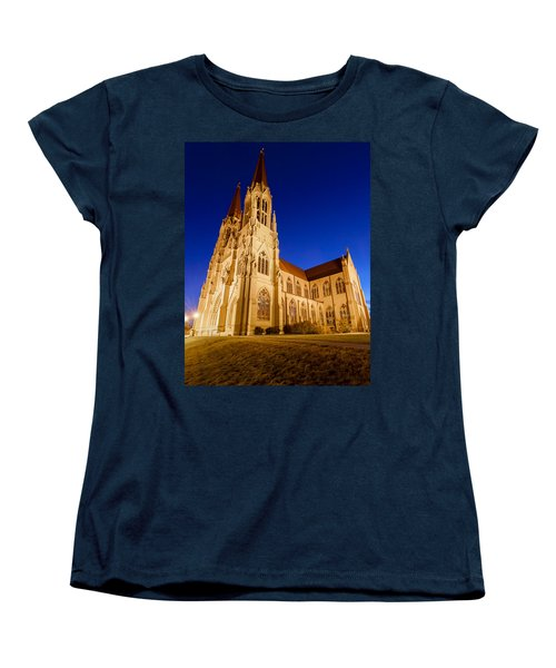 Morning At The Cathedral Of St Helena Women's T-Shirt (Standard Cut) by Fran Riley
