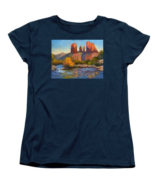 Cathedral Rock 2 Women's T-Shirt (Standard Cut) by Diane McClary
