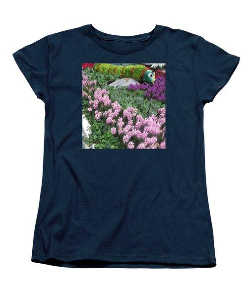 Women's T-Shirt (Standard Cut) featuring the photograph Catterpillar Large Flower Garden Vegas by Navin Joshi