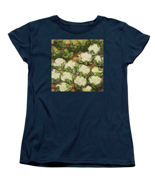 Cauliflower March Women's T-Shirt (Standard Cut) by Jen Norton