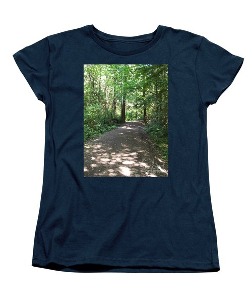 Cedar Shadow Steps Women's T-Shirt (Standard Cut) by Kim Prowse