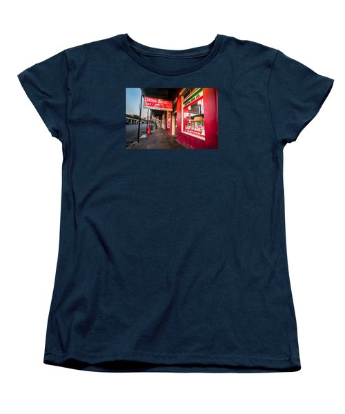 Women's T-Shirt (Standard Cut) featuring the photograph Central Grocery And Deli In New Orleans by Andy Crawford