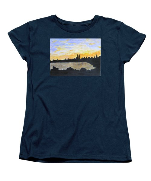 Central Park In Newyork Women's T-Shirt (Standard Cut) by Sonali Gangane