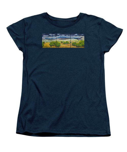 Women's T-Shirt (Standard Cut) featuring the painting Cerrillos Spring by John Hansen
