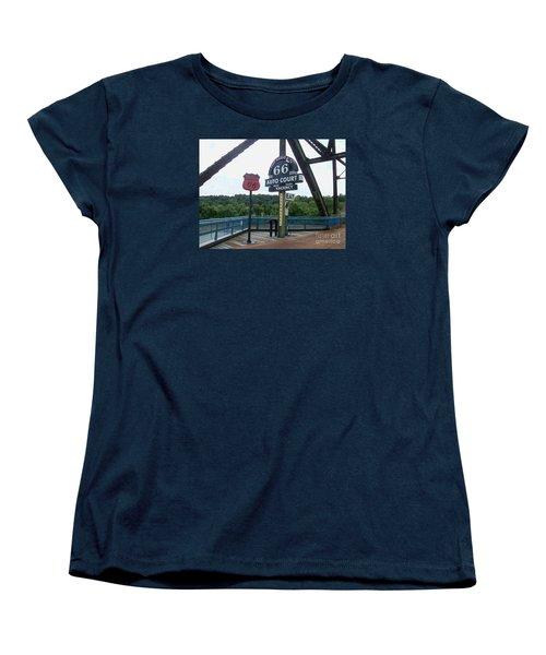 Chain Of Rocks Bridge Women's T-Shirt (Standard Cut) by Kelly Awad