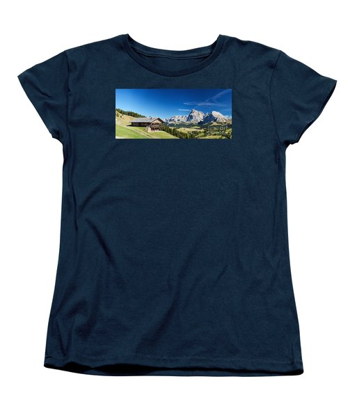 Women's T-Shirt (Standard Cut) featuring the photograph Chalet In South Tyrol by Carsten Reisinger