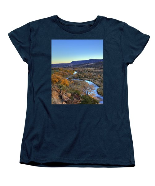 Chama River At Sunset Women's T-Shirt (Standard Cut) by Alan Vance Ley