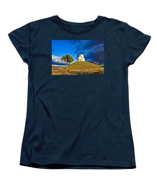 Chapel On Green Hill Nin Dalmatia Women's T-Shirt (Standard Cut) by Brch Photography