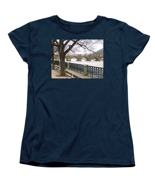 Charles Bridge  Women's T-Shirt (Standard Cut) by Suzanne Oesterling