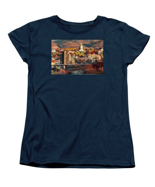 Charleston And Wv Capitol Women's T-Shirt (Standard Cut) by Mary Almond