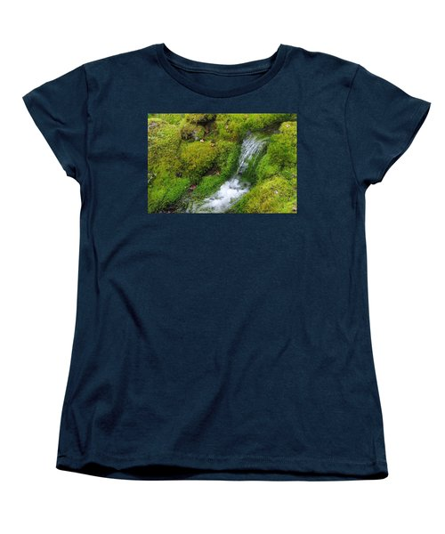 Women's T-Shirt (Standard Cut) featuring the photograph Chasing Waterfalls by Marilyn Wilson