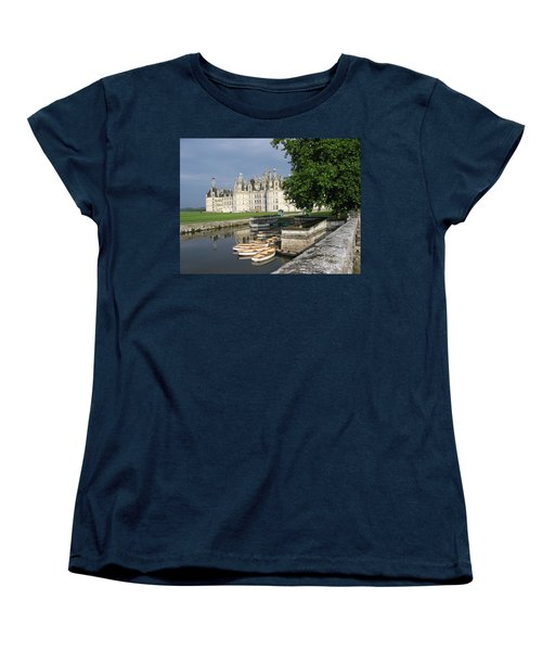 Chateau Chambord Boating Women's T-Shirt (Standard Cut) by HEVi FineArt