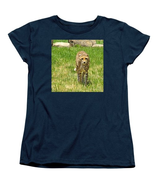 Cheetah Approaching Women's T-Shirt (Standard Cut) by CML Brown