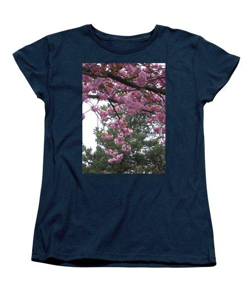 Cherry Blossoms 1 Women's T-Shirt (Standard Cut) by David Trotter