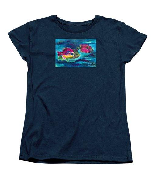 Cherry Toppers Women's T-Shirt (Standard Cut) by Kathy Braud