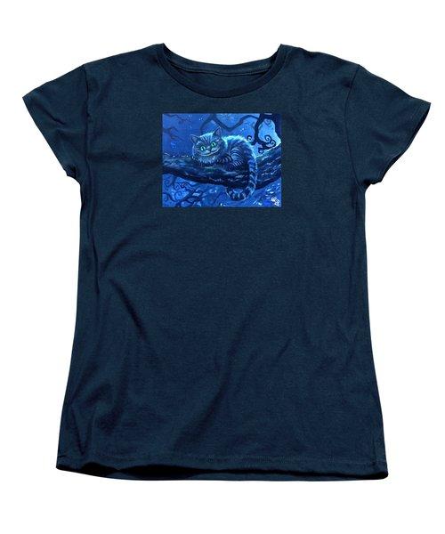 Cheshire Cat Women's T-Shirt (Standard Cut) by Tom Carlton